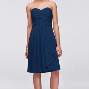 David's Bridal Short Chiffon Dress